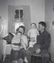 Allan, Betty, Kelvin and Terrance Goresky, January 1955.