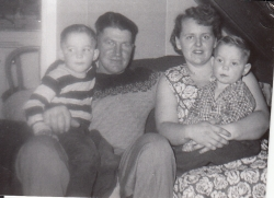 Allan, Betty, Kelvin and Terrance, Jan 1956