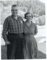Norman Gorman (Goresky) and wife Pauline, 1955