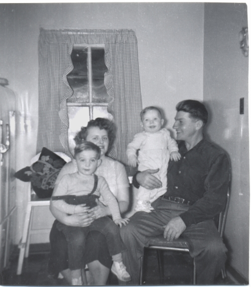 Kelvin, Betty, Terry, Allan January 1955