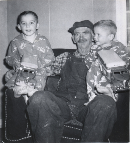 Kelvin, William Gora, Terry.  Christmas 1956