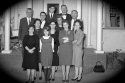 Family at Victor Goresky's Funeral 1965